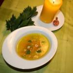 Herbstliche. vegane Suppe